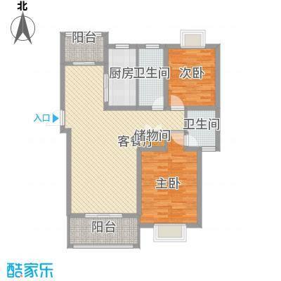 琴韵华庭118.16㎡一期33幢1-6层G户型3室2厅2卫1厨