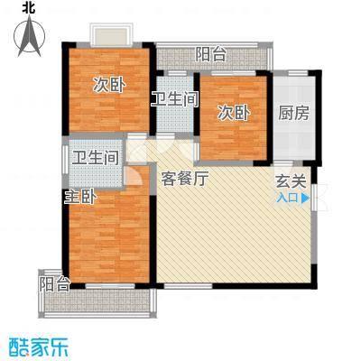 天生福邸户型图户型图 3室 3室2厅2卫1厨