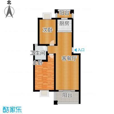 双湖明珠89.18㎡11号楼三户型2室1厅1卫1厨