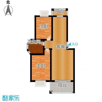 双湖明珠90.39㎡11号楼一户型2室1厅1卫