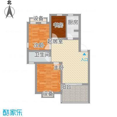 玲珑湾花园89.90㎡二期03栋标准层E14户型3室2厅1卫1厨