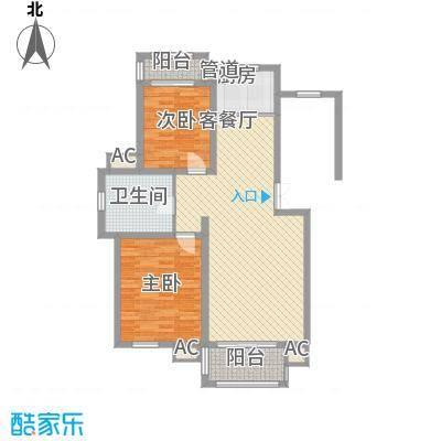 富馨花园95.00㎡富馨花园户型图c23室2厅1卫户型3室2厅1卫