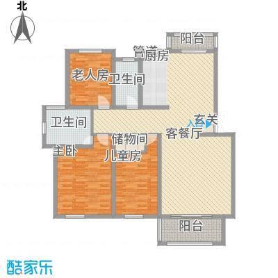 富馨花园135.00㎡富馨花园户型图A13室2厅2卫户型3室2厅2卫