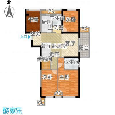 天正理想城120.00㎡4号楼120平米G户型4室2厅2卫1厨