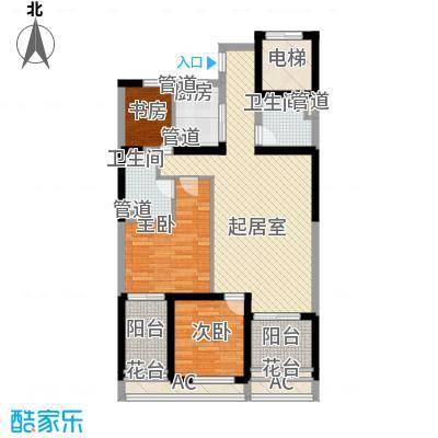 仙林悦城108.00㎡一期1栋2栋G户型3室2厅1卫1厨