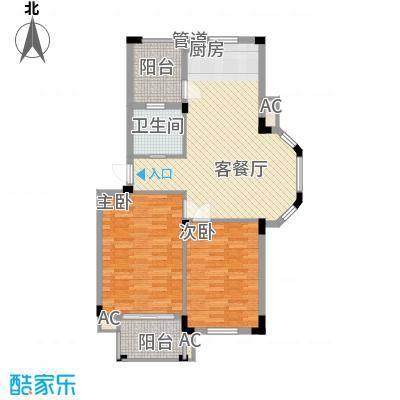 丰和新城二期88.90㎡A1#、A5#、A7#楼A2户型2室2厅1卫1厨