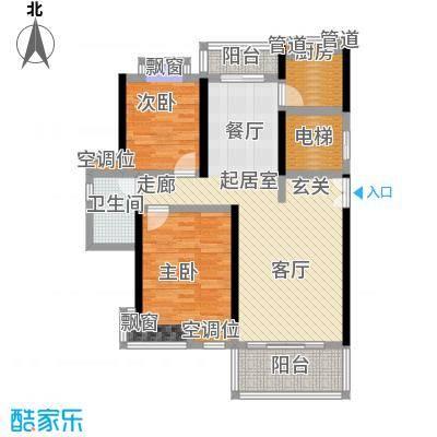 联泰香域滨江96.00㎡优品B6户型2室2厅1卫1厨