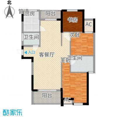 丰和新城二期127.54㎡G3#楼E6户型3室2厅2卫1厨