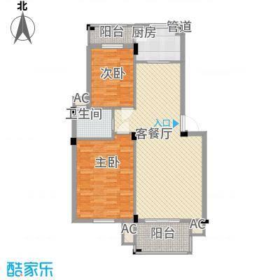 丰和新城二期88.90㎡A1#、A3#、A5#、A7#楼A1户型2室2厅1卫1厨