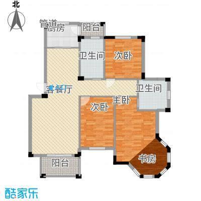 丰和新城二期128.70㎡A3#楼B2户型3室2厅2卫1厨