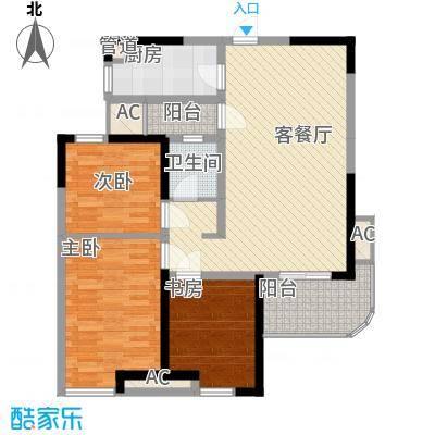 丰和新城二期111.90㎡G1#、G2#楼C2户型3室2厅1卫1厨