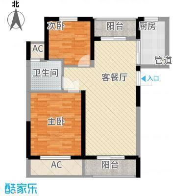 丰和新城二期86.40㎡G1#、G2#楼C3户型2室2厅1卫1厨