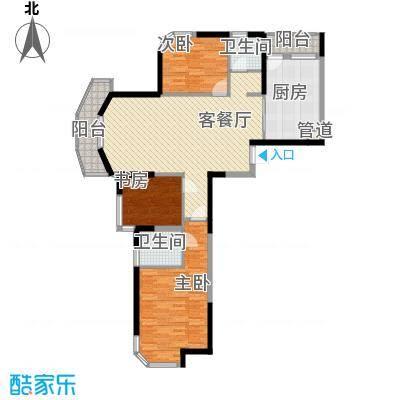 丰和新城二期135.40㎡G1#、G2#楼C1户型3室2厅2卫1厨