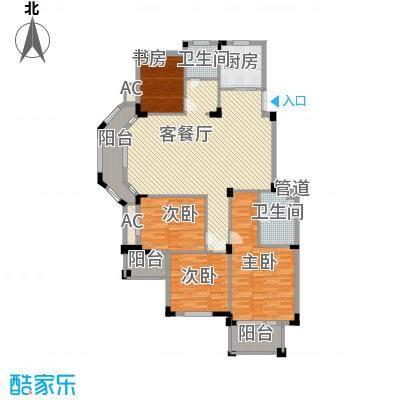 丰和新城二期153.40㎡A6#、D2#楼D1户型4室2厅2卫1厨