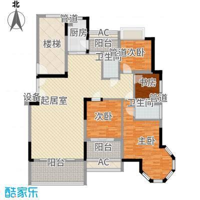 联泰香域滨江桥郡145.00㎡7#楼D2户型4室3厅2卫1厨