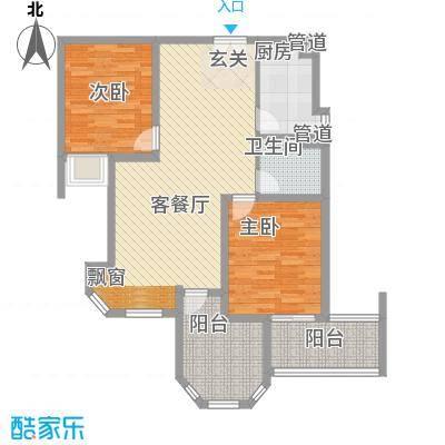 世纪中央城103.84㎡二期10、12、13#楼D3户型3室2厅1卫1厨