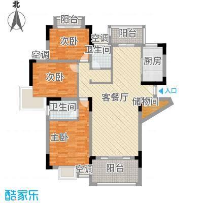 联发江岸汇景141.00㎡二期高层14号楼G4户型3室2厅2卫