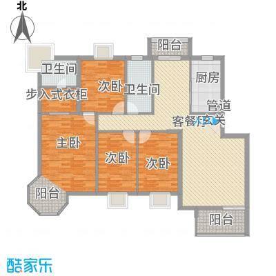 红谷世纪花园165.00㎡红谷世纪花园4室户型4室
