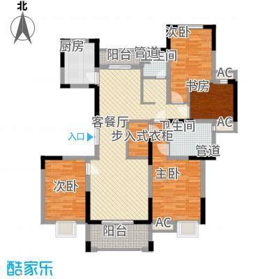 绿地香颂148.00㎡高馆[风华馆]四房户型4室2厅2卫1厨