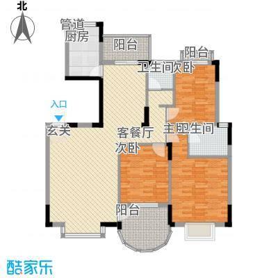 联发江岸汇景142.00㎡三期高层20、28、29、30号楼C户型3室2厅2卫