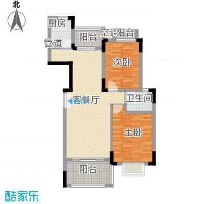 联发江岸汇景98.00㎡三期高层21#楼A2户型2室2厅1卫