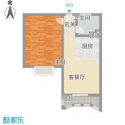 都市现代城80.00㎡都市现代城户型图E型1室1厅1卫1厨户型1室1厅1卫1厨