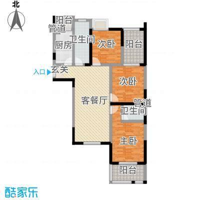 邵村家园125.00㎡邵村家园3室户型3室