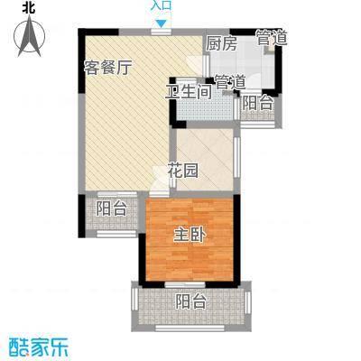 常发香城湾78.00㎡D户型1室2厅1卫