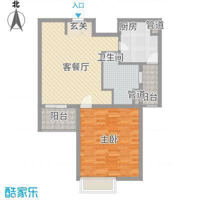 启航社晶彩88.00㎡绿地启航社晶彩2室户型2室