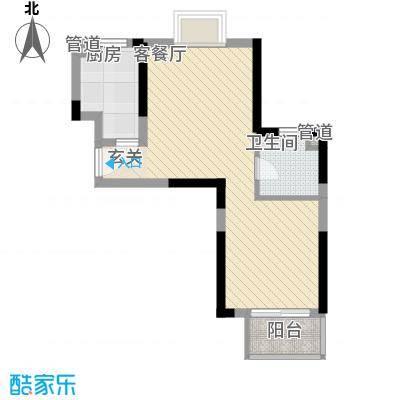 绿地启航社(河西)53.10㎡A1户型1室1厅1卫