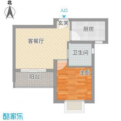 启航社U时代49.00㎡启航社U时代1室户型1室