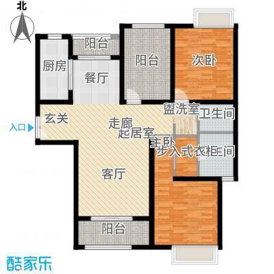 玫瑰湾116.00㎡3#A户型2室2厅2卫1厨