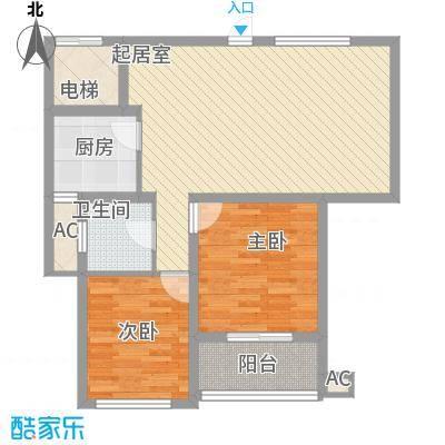 阳光水世界94.00㎡五期A-20号、A-13号、A-7号楼J户型2室2厅1卫1厨