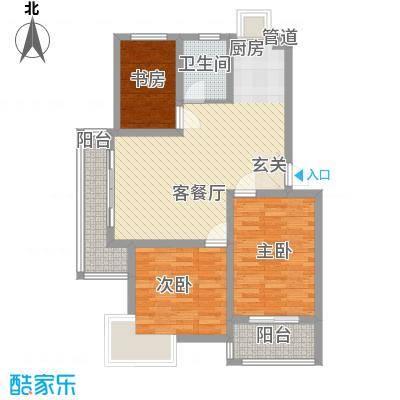 舜江碧水豪园100.95㎡B7户型3室2厅1卫1厨