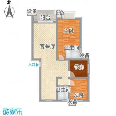 舜江碧水豪园100.00㎡3#B户型3室2厅2卫
