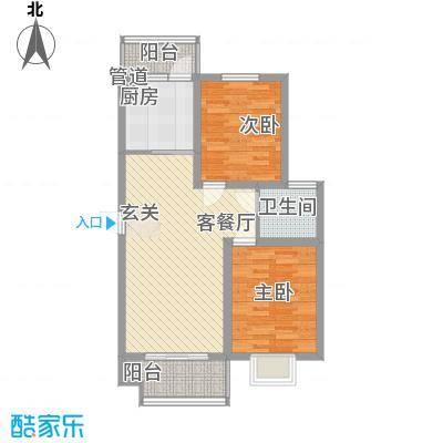舜江碧水豪园87.10㎡F型(已售完)户型2室1厅1卫