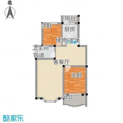 上海星城99.10㎡B1户型2室2厅1卫