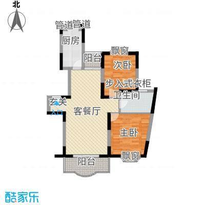 上海星城99.42㎡A型户型2室2厅1卫1厨