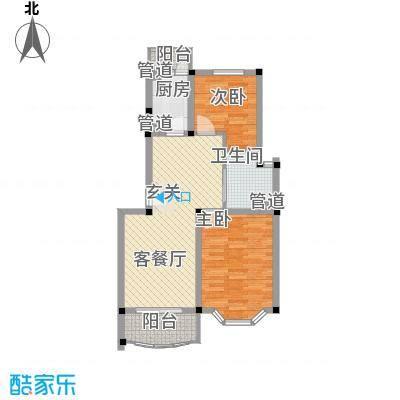 上海星城86.44㎡C2户型2室2厅1卫