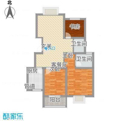 枫情佳苑98.00㎡枫情佳苑2室户型2室