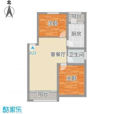 丽水湾90.00㎡丽水湾2室户型2室