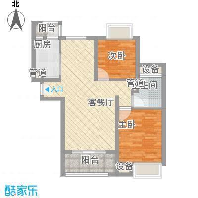 丽水湾85.00㎡丽水湾2室户型2室