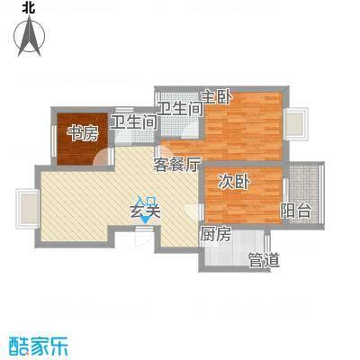 茶风新村94.00㎡茶风新村3室户型3室