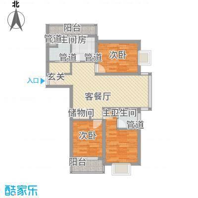 浦西新村95.00㎡浦西新村3室户型3室