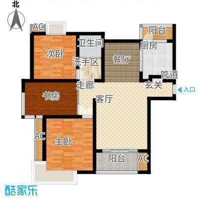 自由都市(乐活家园)114.00㎡自由都市户型3室2厅