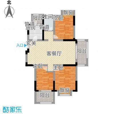宇尚・苏尚家园109.00㎡F户型3室2厅1卫1厨