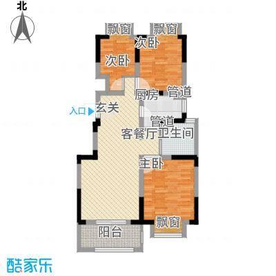 宇尚・苏尚家园100.00㎡D户型3室2厅1卫1厨