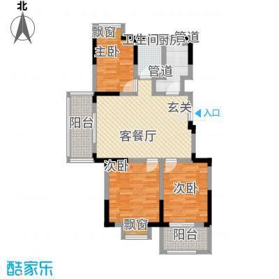宇尚・苏尚家园102.00㎡C户型3室2厅1卫1厨
