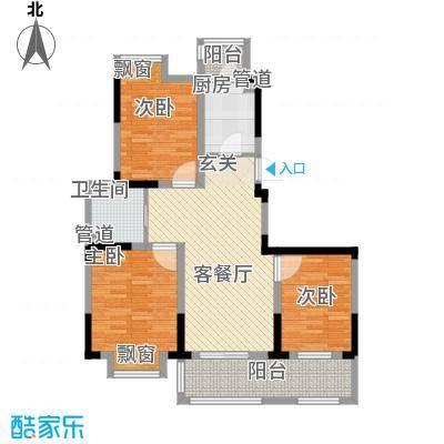 宇尚・苏尚家园111.00㎡E户型3室2厅1卫1厨