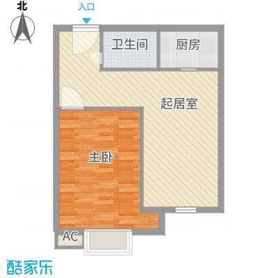长江花园67.00㎡长江花园1室户型1室